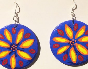 FLOWER JEWELRY, DANGLE Earrings, Statement Jewelry, Botanical Jewelry, Bohemian Earrings, Flower Earrings, Floral Earrings, Nature Jewelry