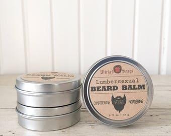 Lumbersexual Beard Balm - Natural Beard Balm, Organic, Beard Moisturizer, Beard Conditioner, Beard Wax, Beard Care, Beard Grooming