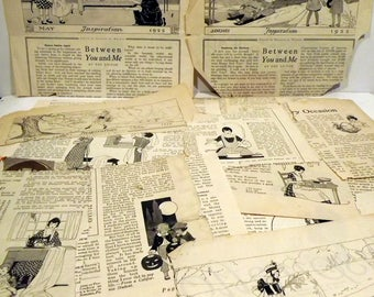 Woman's Institute of Domestic Arts and Sciences magazine scraps from 1919-1922