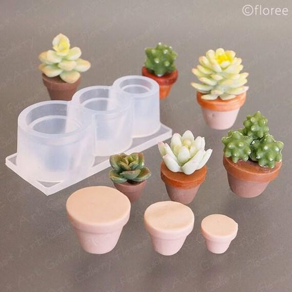 Miniatura planta maceta o jardinera suave moho molde de for Macetas miniatura