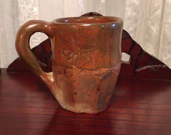 Tomato red stoneware mug