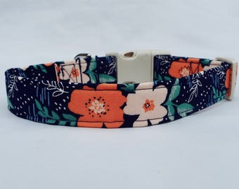 Sweet Floral Fabric Collar for Your Pup