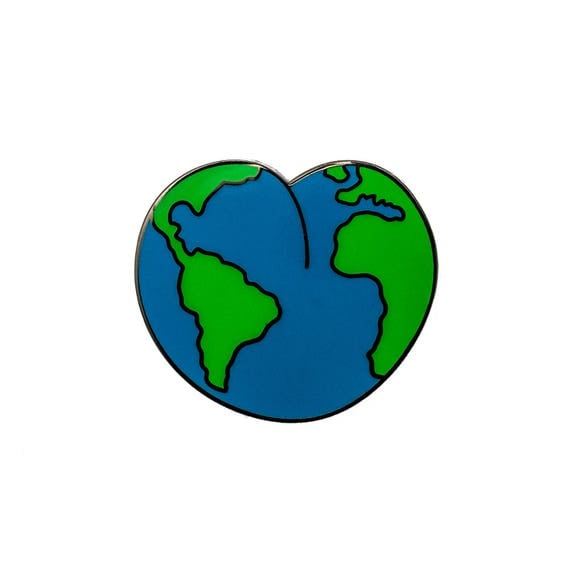 Booty Globe Enamel Pin. Booty Worship Worldwide Pin.