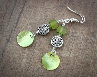Green Earrings Womens