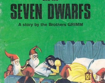 Vintage Snow White and the Seven Dwarfs Softcover  Fairy Tale Story 1967 Ottenheimer Publishers