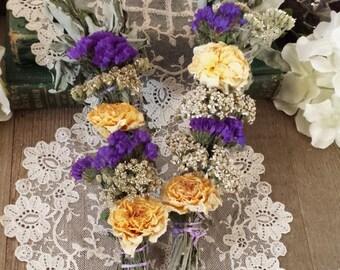 White Sage, Lemon Verbena, Yellow Roses, & Wild Flowers Smudging Stick