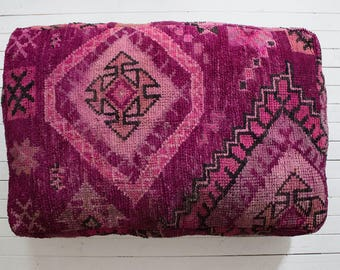 Moroccan Double Pouf / Moroccan Boujaad Pouf / XL Floor Pouf / Moroccan Cushion / Floor Cushion / Pouf Cover / FREE US Shipping