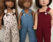 Choice of Overalls to fit Sasha, Gregor, or Girl of All Time Doll