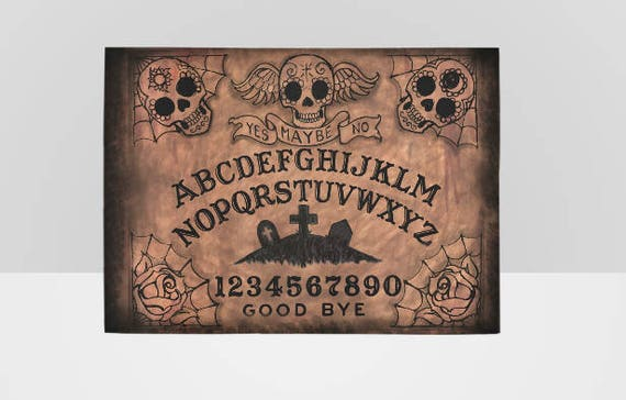 Sugar Skull Ouija Board Area Rug