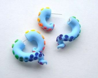 Rainbow Dash Tentacle Earring - Fake Gauge - Octopus - My Little Pony