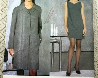ON SALE Vogue 2070, Misses' Coat and Dress Sewing Pattern, Marc Jacobs Designer Pattern, Coat Pattern, Dress Pattern, Misses' Size 14, 16, 1