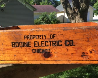 Vintage Bodine Electric Co - Chicago - Crate