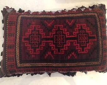 Large Antique Pakistani Wool Floor Pillow