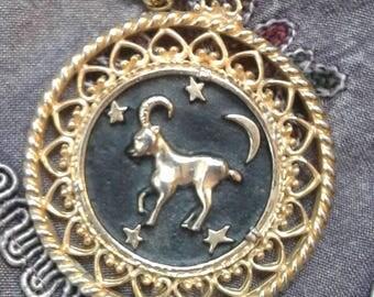 Aries The Ram Zodiac Pendant Necklace