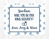 Ring Bearer Puzzle Will You Be My Ring Bearer Puzzle Will You Be Our Ringbearer Proposal Puzzle Ring Security Puzzle Proposal Navy Blue Fun