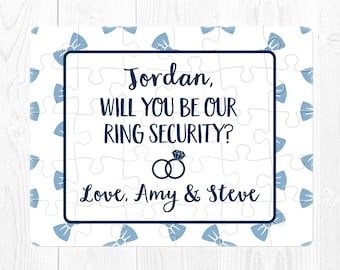 Ring Bearer Puzzle Will You Be My Ring Bearer Puzzle Will You Be Our Ringbearer Proposal Puzzle Ring Security Puzzle Proposal Blue Custom