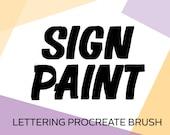 Sing Painter - Paint Brush - Calligraphy Lettering Procreate Brush
