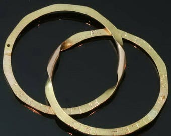 Antique Gold Wedding Band Double Ring Size 10 Rose Gold Victorian Ring c.1819
