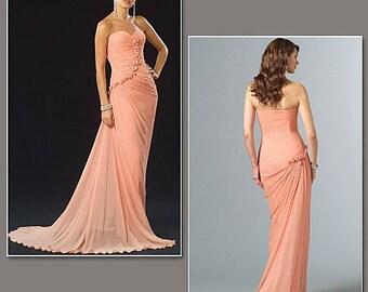 Pick Your Size - Vogue Dress Pattern V2890 by BELLVILLE SASSOON - Misses' Strapless Ruched Evening Dress - Vogue Designer Original Pattern