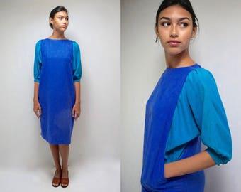 Silk Dress // Dolman Sleeve Dress  // Minimalist Dress  // Raw Silk Dress  // Nicole Miller Dress  //  80s Sack Dress  //  THE BRAMBY