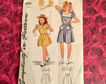 Vintage 50's Simplicity Girls Dress