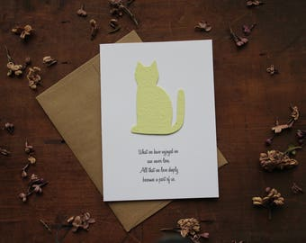 Pet Sympathy-What we have enjoyed we can never lose.- Choose from 5 shapes/16 seed paper colors