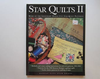 quilting book - Star Quilts II - more of the legendary Kansas City Star Quilt Patterns - 2000
