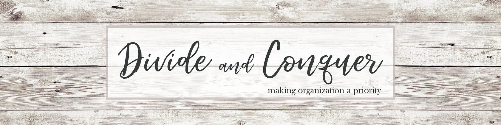 making organization a priority by divideandconquer on etsy