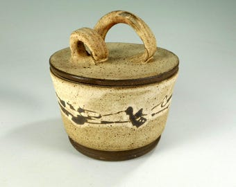 Ceramic sugar bowl, pottery salt cellar, stoneware sugar bowl, ceramic salt jar with lid, pottery sugar bowl, ceramic sugar jar, salt jar