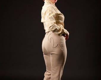 HALF PRICE SALE Vintage 1960s Rodeo Pants Suit - Rockabilly Vest - Lasso Western Wear Fashions
