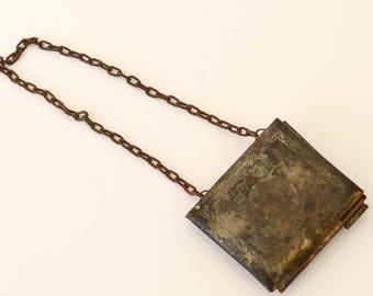 Antique Large Locket or Small Purse or Keepsake Holder, Chatelaine