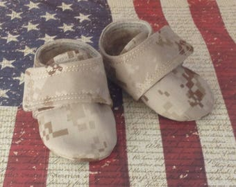 United States Marine Corp Desert Camo Baby Shoes | 0-3 Month Only | READY TO SHIP