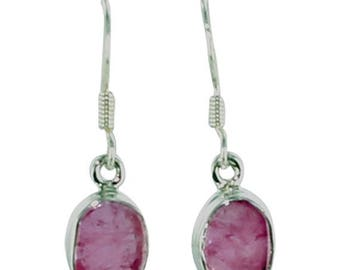 Summer Sale : ) Pink Tourmaline Sterling Earrings