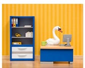 FALL SALE Office decor, unique office art, cubicle decoration: The Stay at Home Swan