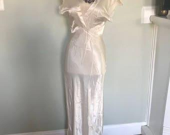 Vintage 1930's Deco Silk Nightgown