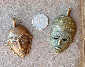 Larger Brass Face Pendants