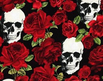 Skulls and Roses - Timeless Treasures - Fat Quarter