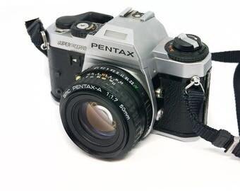 Pentax Super Program 35mm SLR film camera with 50 mm F1.7 lens