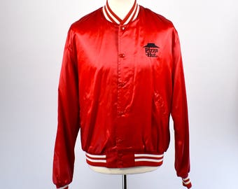1980's Pizza Hut Satin Jacket, Made in the USA