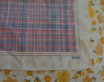 Scarves - Vintage Echo  White and Small Plaid scarf