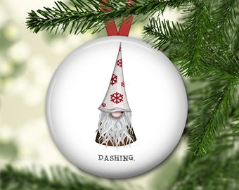 Christmas gnome ornament for tree - farmhouse Christmas ornament - gnome decorations - modern farmhouse decor - ORN-58