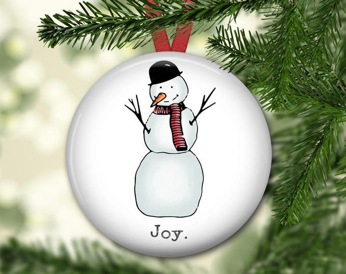 snowman christmas decorations for tree - farmhouse Christmas ornment - snowman decor - modern farmhouse decor - ORN-HOL-54