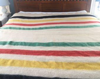 Vintage Hudson Bay Blanket Wool, Cutter,wool