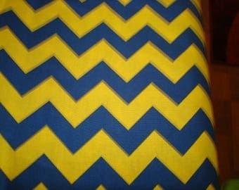 Chevron Navy and Yellow Fabric by Riley Blake -1 yard