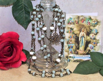 Heirloom Unbreakable Bronze Immaculate Conception Catholic Rosary from the Special Edition Handcrafted Art Chaplets & Prayer Beads Series