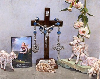 Unbreakable Catholic Chaplet of St. Genevieve - Patron Saint of the Women's Army Corps and Against plague, Disasters and Fever