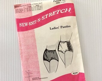 40% OFF SALE Vintage Sewing Pattern #202 Underwear Panties Undergarment Sew Knit N StitchSize 7-8-9
