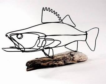 Walleye Fish Wire Sculpture. Fish Wire Art, Minimal Sculpture, 539365997