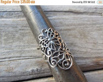 ON SALE Butterfly ring handmade in sterling silver 925