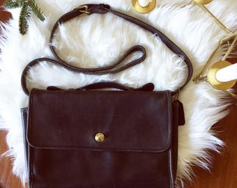 Vintage COACH black leather bag